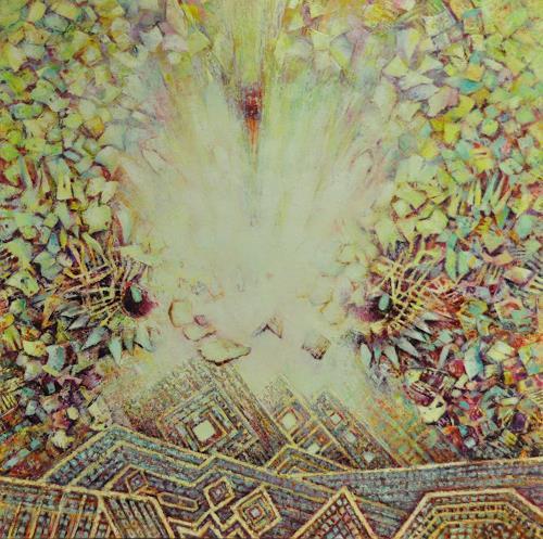 Arthur Schneid, CERN 3 - Anschlag auf Big Data, Abstraktes, Technik, Gegenwartskunst, Abstrakter Expressionismus