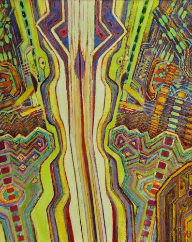 Arthur Schneid, CERN 5 - Datenautobahn, Technik, Abstraktes, Gegenwartskunst