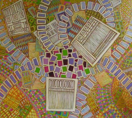 Arthur Schneid, BIG DATA - Modern Times, Technik, Gesellschaft, Abstrakte Kunst, Expressionismus