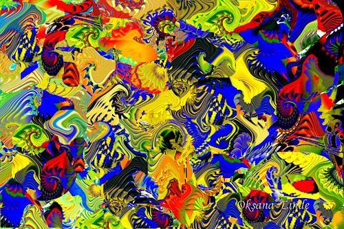 oksana linde, Composition AV01, Dekoratives, Abstraktes, Abstrakter Expressionismus
