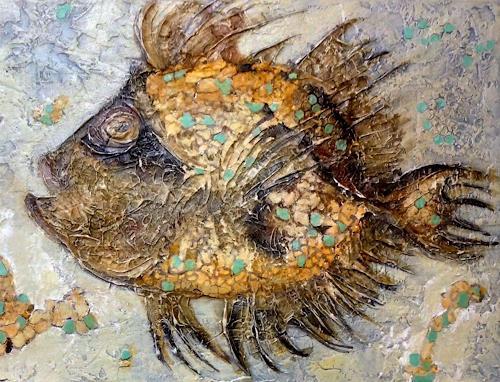 Eva Vogt, Detail aus den Bild Fosillien, Abstraktes