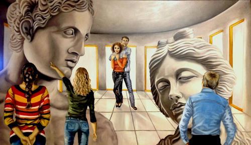 Eva Vogt, APOLLON, der griechische Gott des Lichts, der Sonne und der Kunst mit APHRODITE, der griechischen Gö, Mythologie, Gegenwartskunst, Abstrakter Expressionismus