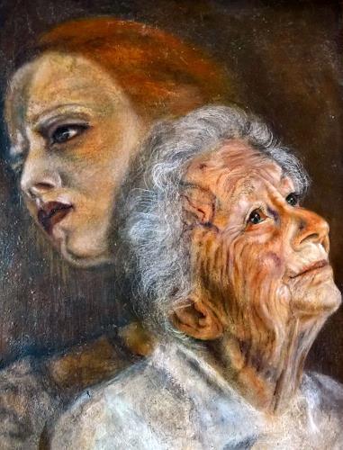 Eva Vogt, Im Schatten, Menschen: Gesichter, Expressionismus