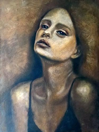 Eva Vogt, Erwartung, Menschen: Gesichter, Abstrakte Kunst, Expressionismus