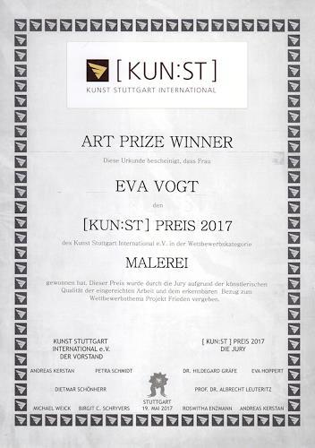 Eva Vogt, [Kun:st] Preis 2017 PROJEKT FRIEDEN, Diverses, Abstrakte Kunst