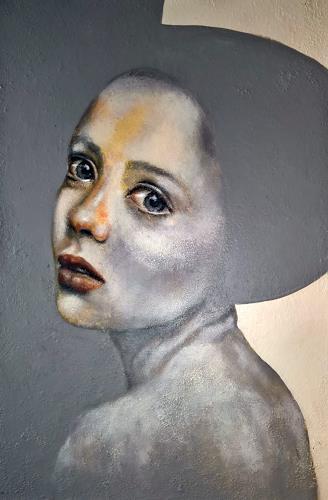 Eva Vogt, Anna, Menschen: Gesichter, Abstrakte Kunst, Abstrakter Expressionismus
