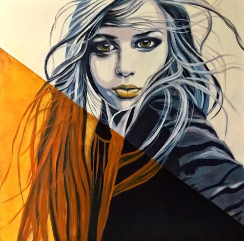 Eva Vogt, Vom Winde verweht, Menschen: Frau, Abstrakte Kunst, Abstrakter Expressionismus