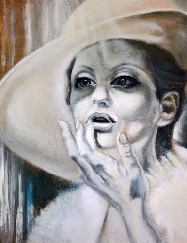 Eva Vogt, In der Sonne, Menschen: Frau, Abstrakte Kunst, Expressionismus