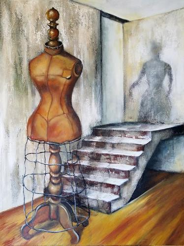 Eva Vogt, Schneiderpuppe, Skurril, Abstrakte Kunst, Abstrakter Expressionismus