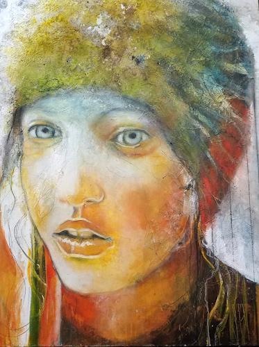 Eva Vogt, Ich sehe dich, Menschen: Gesichter, Gegenwartskunst, Expressionismus
