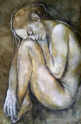 Eva Vogt, Embryonal, Menschen: Frau, Gegenwartskunst, Expressionismus