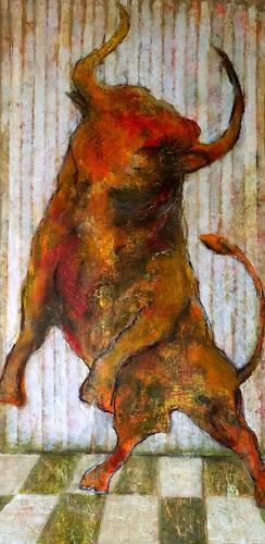 Eva Vogt, Stierisch, Tiere: Land, Gegenwartskunst, Abstrakter Expressionismus