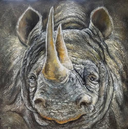 Eva Vogt, Der letzte Nashorn, Tiere: Land, Gegenwartskunst