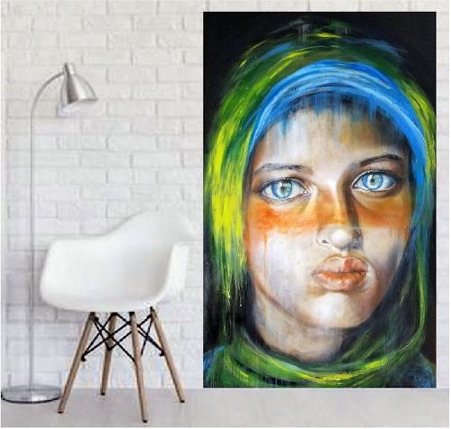 Eva Vogt, Diana im Raum, Menschen: Gesichter, Gegenwartskunst