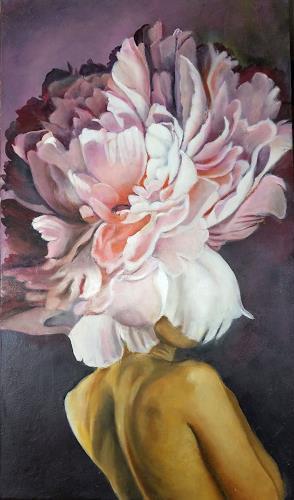Eva Vogt, Paeonia, Skurril, Gegenwartskunst, Abstrakter Expressionismus