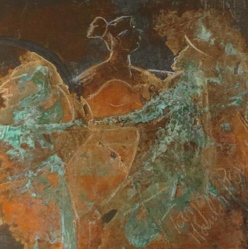 Elisabeth Bürstl, Moulin Rouille -klein, Menschen, Expressionismus