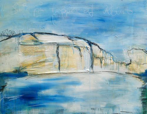 Stefanie Rogge, Stå pa toppen af Klinten, Landschaft: See/Meer, Natur: Gestein, Abstrakter Expressionismus