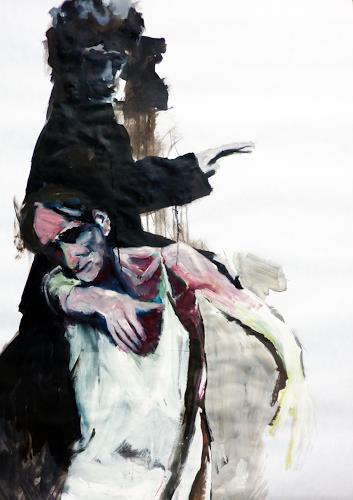 Mila Plaickner, Tanzszene, Menschen, Akt/Erotik, Abstrakter Expressionismus