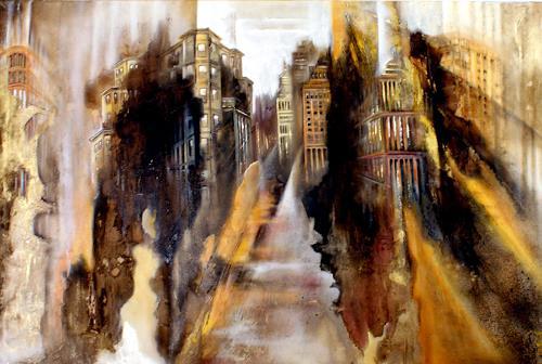 silvia federspiel, o.T., Diverse Landschaften, Bauten, Gegenwartskunst, Expressionismus