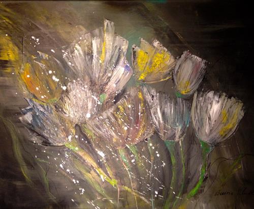 Beatrix Schibl, Tulpen, Stilleben, Pflanzen: Blumen, Konkrete Kunst, Expressionismus