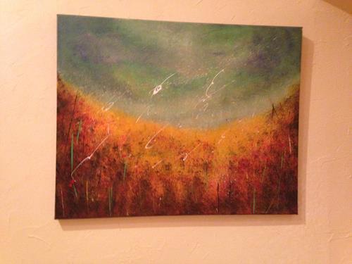 Beatrix Schibl, Herbstwiese, Zeiten, Abstraktes, Abstrakte Kunst