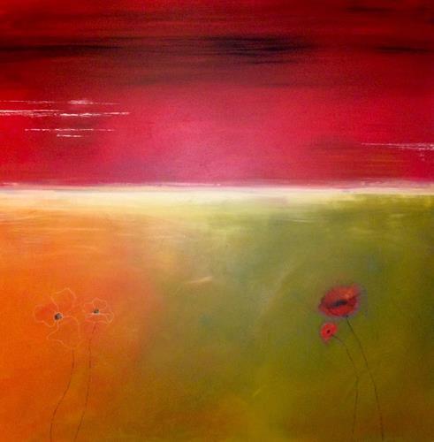 Beatrix Schibl, Abendrot, Poesie, Natur, Abstrakte Kunst, Expressionismus