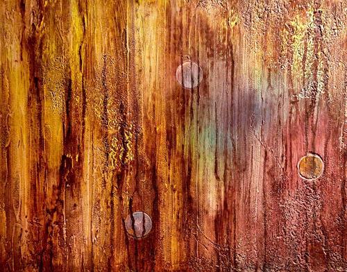Beatrix Schibl, Zauberwald, Abstraktes, Weltraum, Abstrakte Kunst