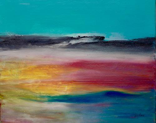 Beatrix Schibl, Shangri La, Diverse Landschaften, Abstraktes, Abstrakte Kunst, Expressionismus
