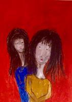 Beatrix-Schibl-Menschen-Familie-Menschen-Kinder-Moderne-Expressionismus