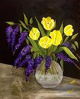 Beatrix-Schibl-Pflanzen-Pflanzen-Blumen-Moderne-expressiver-Realismus