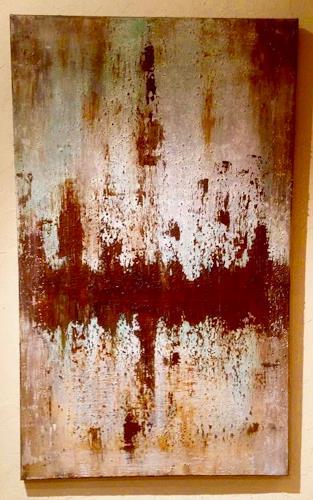 Beatrix Schibl, Rost/Acryl, Abstraktes, Abstraktes, Abstrakte Kunst