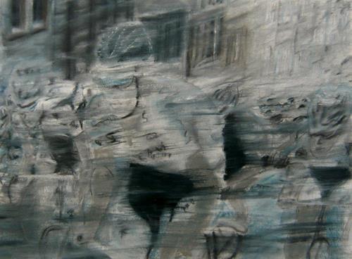 Hans-Dieter Ilge, Radrennen, Sport, Bewegung, Gegenwartskunst, Abstrakter Expressionismus