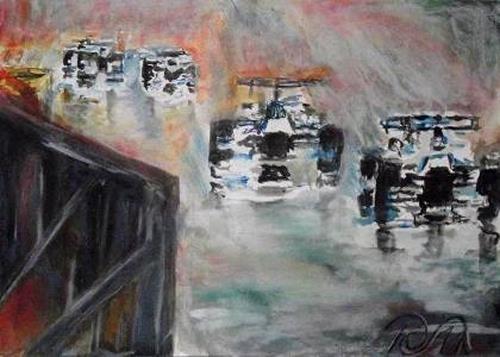 Hans-Dieter Ilge, Formel I, Sport, Bewegung, Gegenwartskunst, Abstrakter Expressionismus