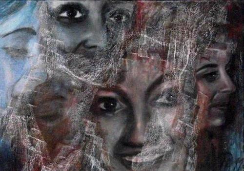Hans-Dieter Ilge, Marusja´s Augen, Menschen: Porträt, Gegenwartskunst, Expressionismus