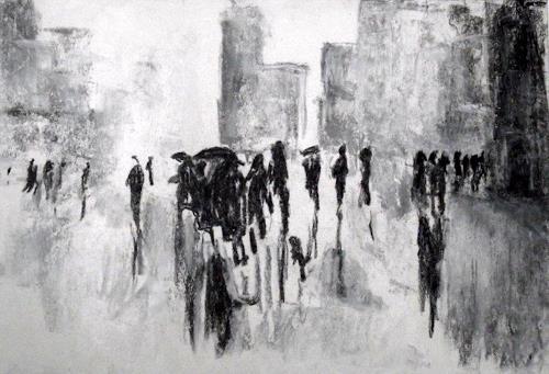 Hans-Dieter Ilge, Berliner Impressionen II, Wohnen: Stadt, expressiver Realismus