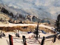 Hans-Dieter-Ilge-Landschaft-Winter-Gegenwartskunst-Gegenwartskunst