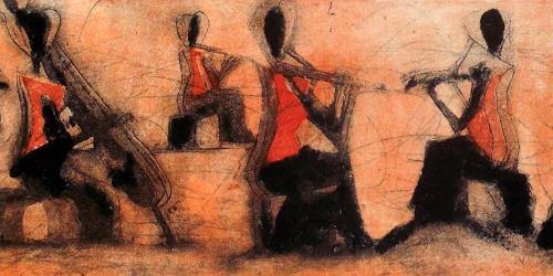 Hans-Dieter Ilge, Quartett, Menschen: Gruppe, Musik: Konzert, Gegenwartskunst, Expressionismus