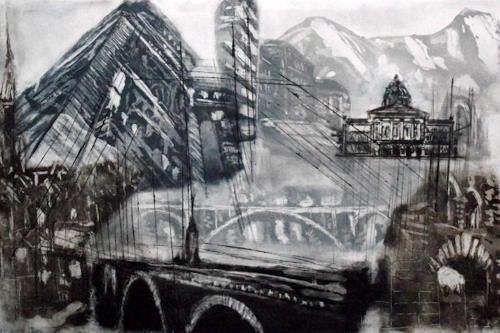 Hans-Dieter Ilge, Bern !, Architektur, Gesellschaft, Gegenwartskunst, Abstrakter Expressionismus