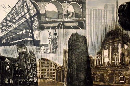 Hans-Dieter Ilge, Chemnitz, Architektur, Diverse Landschaften, expressiver Realismus, Abstrakter Expressionismus