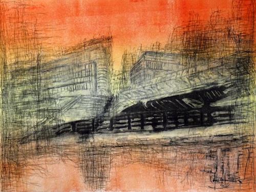Hans-Dieter Ilge, Berlin: Am Landwehrkanal, Architektur, Diverse Landschaften, expressiver Realismus, Abstrakter Expressionismus
