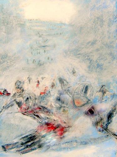 Hans-Dieter Ilge, Vom Stubai...., Landschaft: Winter, Sport, Gegenwartskunst, Abstrakter Expressionismus