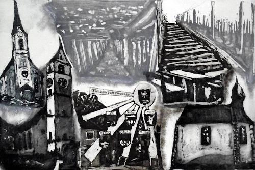 Hans-Dieter Ilge, Im Mettauertal, Diverse Landschaften, Architektur, expressiver Realismus