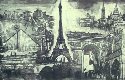 Hans-Dieter Ilge, Paris!, Architektur, Gesellschaft, Gegenwartskunst