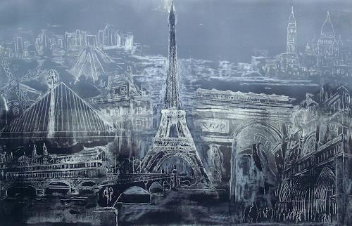 Hans-Dieter Ilge, Paris!, Bauten, Architektur, Gegenwartskunst