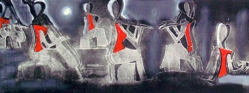 Hans-Dieter Ilge, Paris musiziert, Menschen, Abstrakte Kunst