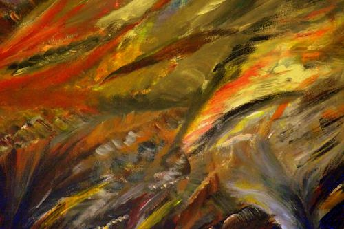 Hans-Dieter Ilge, Herbst II, Abstraktes, expressiver Realismus, Expressionismus