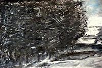 Hans-Dieter-Ilge-Landschaft-Winter-Moderne-expressiver-Realismus