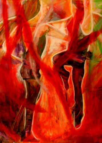Hans-Dieter Ilge, Karneval Tanz, Menschen: Gruppe, expressiver Realismus