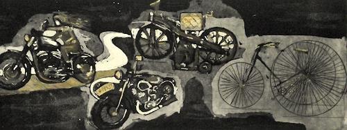 Hans-Dieter Ilge, Rad-Mobilität, Bewegung, Geschichte, Gegenwartskunst, Abstrakter Expressionismus