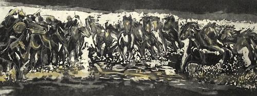 Hans-Dieter Ilge, Pferde-mobil, Bewegung, Gegenwartskunst, Abstrakter Expressionismus